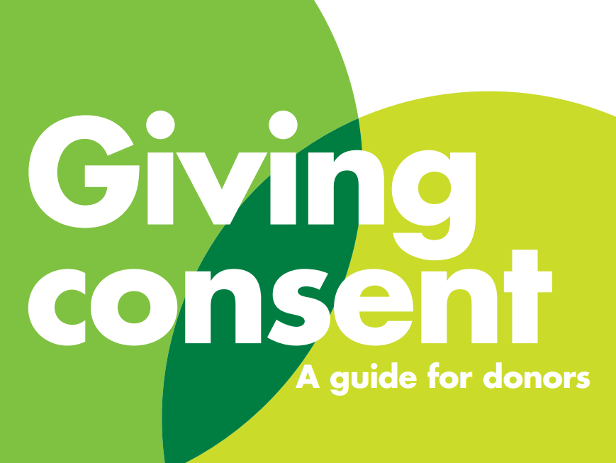 Giving consent leaflet front cover