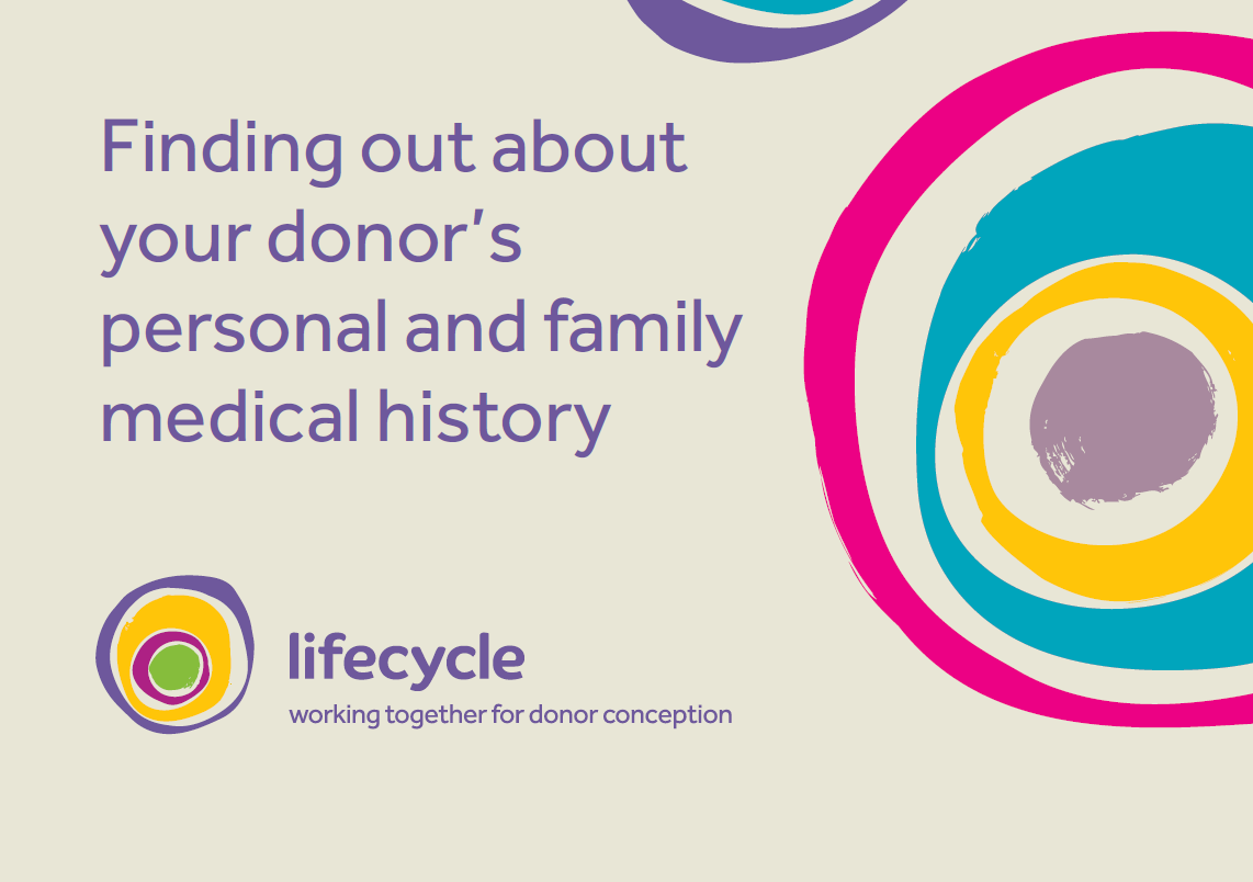 Finding out about your donor's personal and family medical history graphic